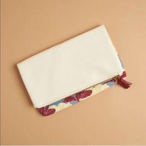 Rachel Pally reversible floral white clutch purse